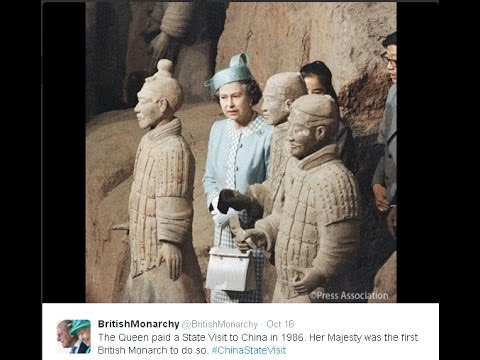 British Queen tweets about moments with China