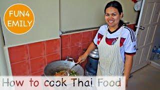 HOW TO COOK PAD THAI and PAD KRA PAO