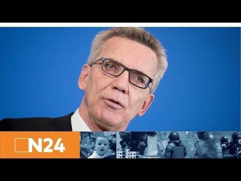 Festnahme BVB-Bomber: Pressestatement von Bundesinnenminister Thomas de Maizière