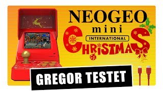 Gregor testet die SNK NEOGEO mini Christmas Limited Edition (Review / Test)