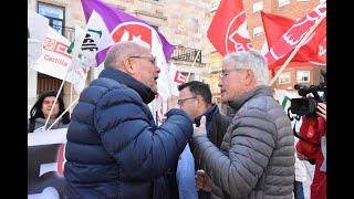 Los sindicatos irrumpen en un acto electoral de Igea en Zamora