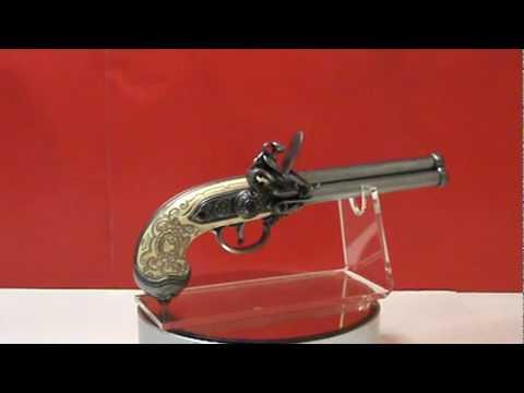 Denix Italian Triple Barrel Flintlock Pistol Replica Gun ...   Triple Barrel Flintlock Pistol