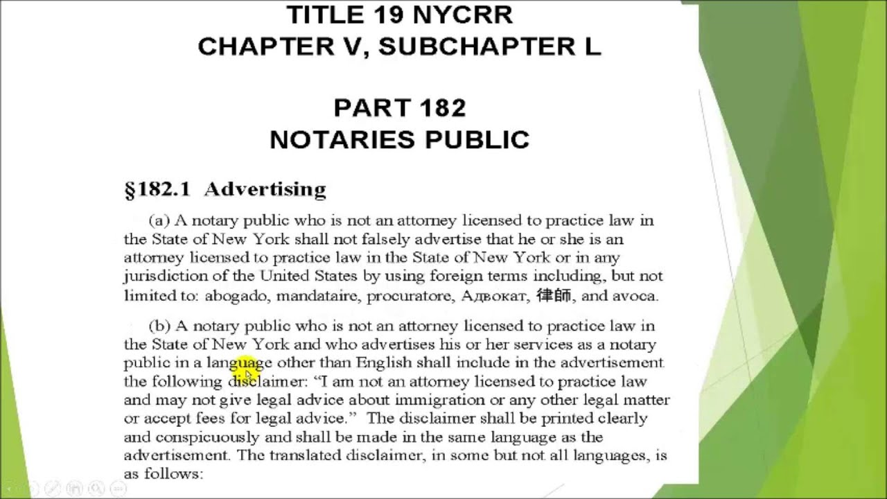 Ny notary free refresher practicing law without a license youtube ny notary free refresher practicing law without a license publicscrutiny Gallery