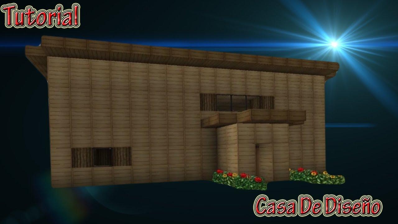 Minecraft tutorial casa de dise o sencilla y bonita - Diseno de chimeneas para casas ...
