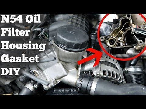 Oil Filter Housing Gasket >> Bmw N54 Oil Filter Housing Gasket E90 E60 335i E92 Youtube