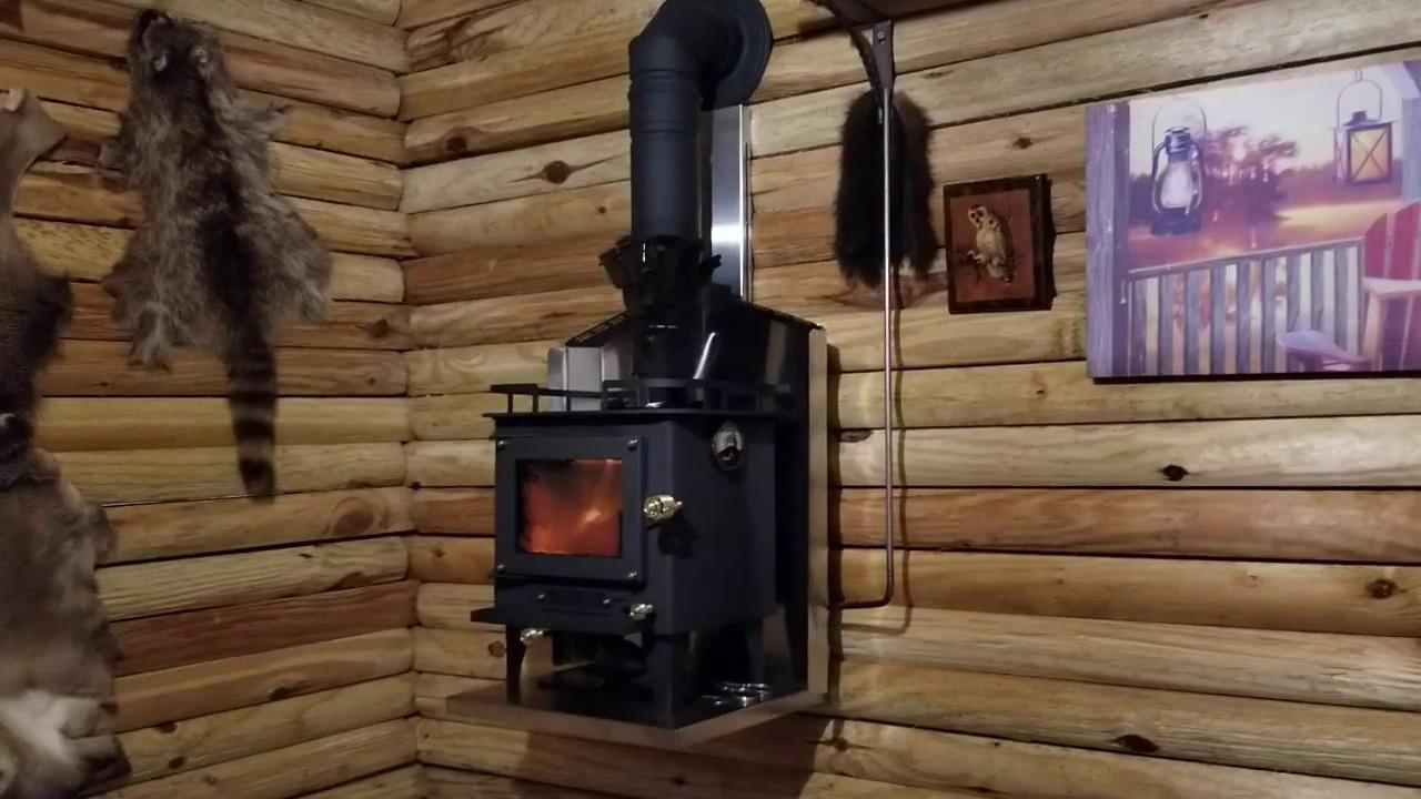 Cubic Mini Wood Stove In Grandpa S Tiny Cabin Youtube