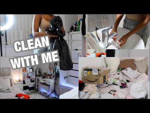 CLEAN MY ROOM WITH ME! ALL WHITE BEDROOM ?! | LISAAH MAPSIE