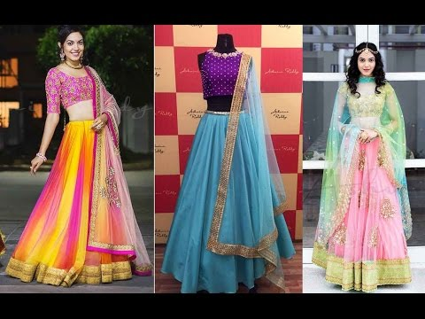 5dfbaa80a2b05 Crop top Lehenga With Dupatta 2017 Designs - YouTube