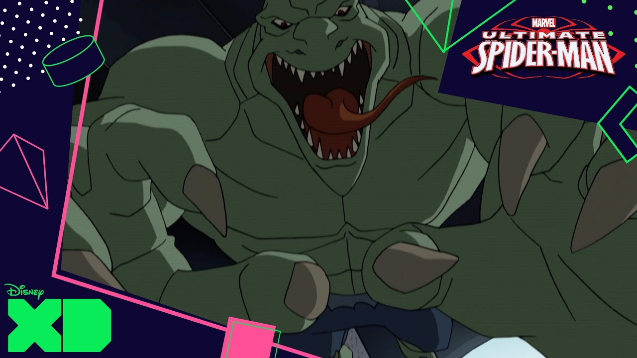 ultimate spiderman vs the sinister six the lizard