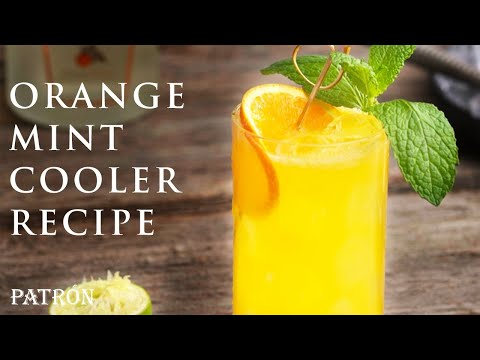 How to Make a Patrón Orange Mint Cooler