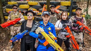 LTT Game Nerf War : Warriors SEAL X Nerf Guns Fight Braum Crazy Crime Group Break Into Base