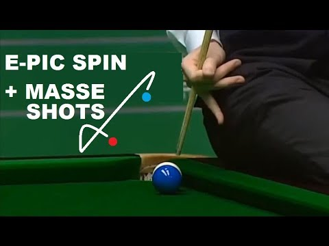 SNOOKER CLASSICAL!!! MASSE AND SPIN SIMPLY AWESOME INCREDIBLE