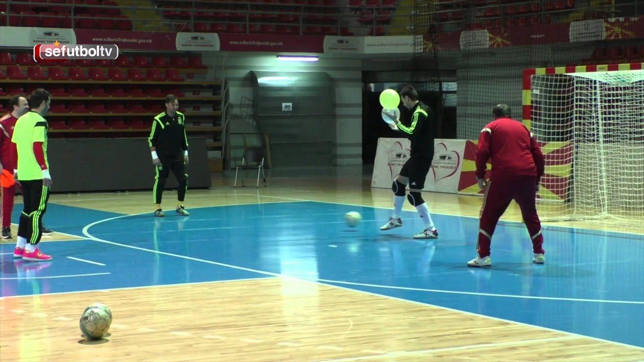 Entrenamiento porteros de la selecci n espa ola f tbol for Federacion espanola de futbol sala