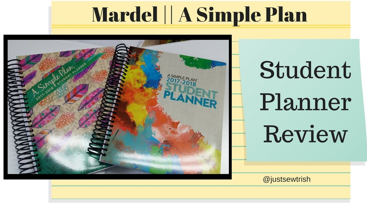 homeschool review mardel a simple plan student planner 2017 2018