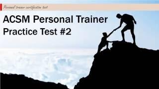 acsm personal trainer practice test 2