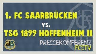 1. FC Saarbrücken - TSG 1899 Hoffenheim II - Pressekonferenz vor dem Spiel (37. Spieltag)