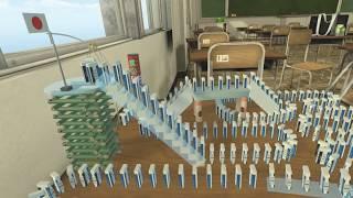 https://youtu.be/2iqm71s9e7A の動画のリメイクです。 VRゴーグルを使用して本当の関くん目線に。 物理エンジンのチューニングも見直して、前回よりも...