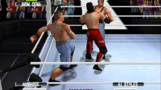 wwf no mercy mod 2k16 aj styles vs jhon cena vs dean ambrose wwe world heavyweight championship