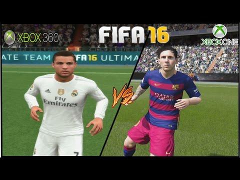 FIFA 16 - XBOX ONE VS XBOX 360 BARCELONA X REAL MADRID FACE COMPARISON!!