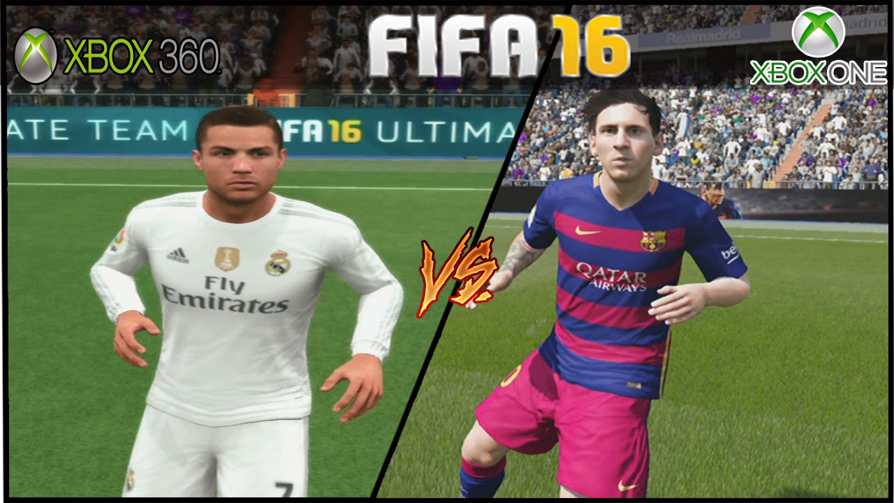 fifa 16 xbox one vs xbox 360 barcelona x real madrid. Black Bedroom Furniture Sets. Home Design Ideas
