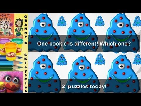 Find The Different Cookie And Rooster.. Two Puzzles , Two Times The Fun.  By Granny B.
