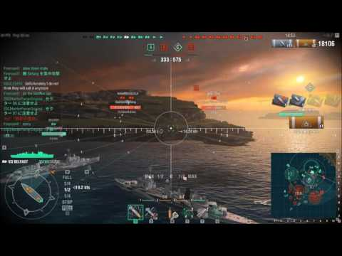 【WoWs】下手でも楽しい海戦ゲームPart351【BELFAST】