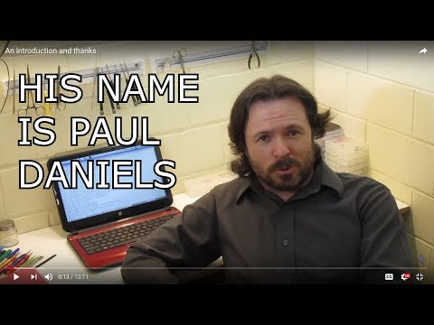 Introducing Paul Daniels' life changing software