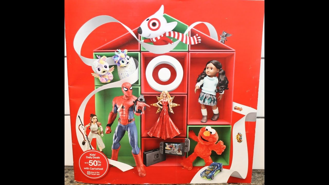 looking through the target christmas catalogue 2017