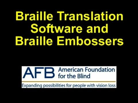 Braille Transcribing Software and Braille Embossers