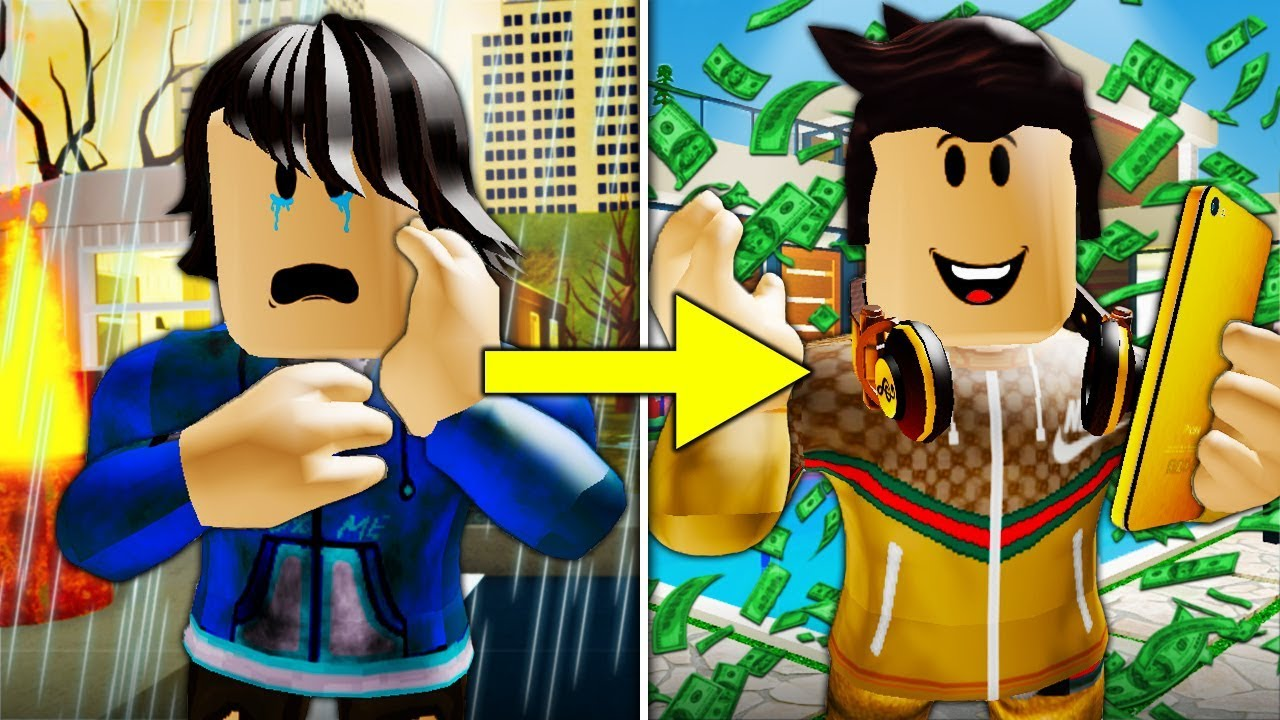 Roblox Poor To Rich Bloxburg Poor To Rich The Celebrity A Sad Roblox Movie Youtube