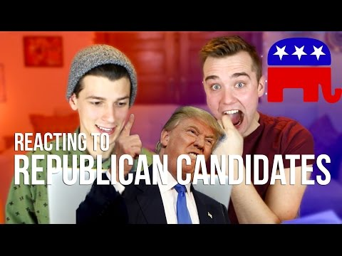 British Guy Reacts to Republican Presidential Candidates!