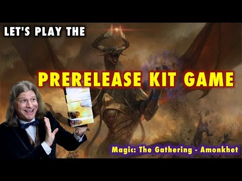MTG - Let's Play The Prerelease Kit Game for Amonkhet - Magic: The Gathering