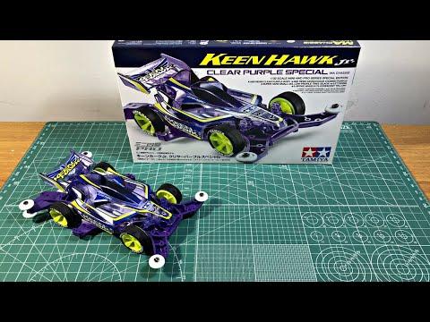 TAMIYA KEEN HAWK JR Clear Purple special Mini 4WD Indonesia