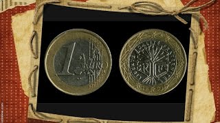 1 euro coin 1999 one euro €1 France my  euro coins collection / монета 1 евро  法國 1歐元 عملة اليورو