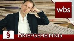 Jura Basics: Das Briefgeheimnis | Rechtsanwalt Christian Solmecke