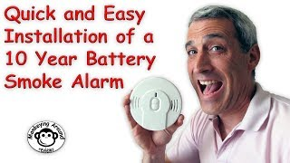 How easy is it to install a new 10 year battery smoke detector?