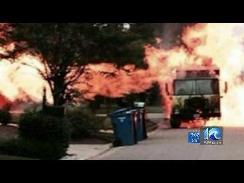 Matt Gregory on Recycling truck's fuel tank sparks huge fire