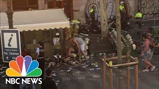 Van Crash In Barcelona, Multiple People Injured | NBC News