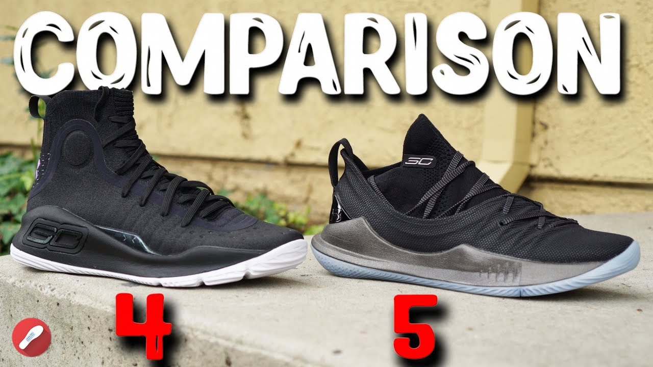 sports shoes 17722 7528a Under Armour Curry 4 & Curry 5 Initial Comparison!