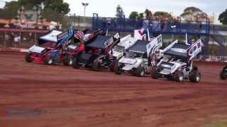 2014 NSW Sprintcar Title Heat Race Highlights  - Valvoline Raceway - Rockdog Racing Videos