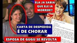 É de chorar! Esposa de Gugu Liberato se pronuncia e entristece, família faz carta para Gugu