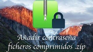 Comprimir ficheros  zip con contraseña en Mac OS X