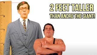 Andre the Giant vs Robert Wadlow, Giant vs World's Tallest Man - 9 Feet Tall
