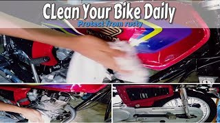 How to clean and safe your bike from rusty | Watch 3 characters together | D Modified