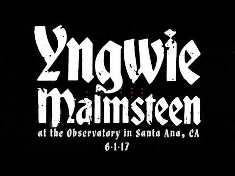 Yngwie Malmsteen at The Observatory in Santa Ana, CA 6-1-17 [FULL SET]