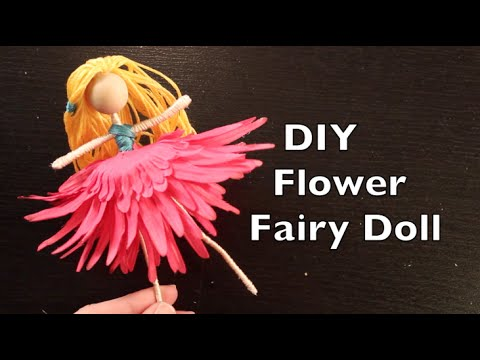 How To Make a Flower Fairy Doll | Easy Doll Making Tutorial | DIY