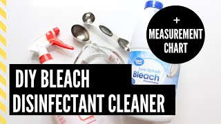 DIY Bleach Disinfectant Cleaning Spray | Easy + Cheap | Coronavirus | Covid-19