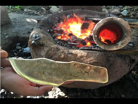 Download Primitive Technology: Building furnace and casting knife copper beautiful