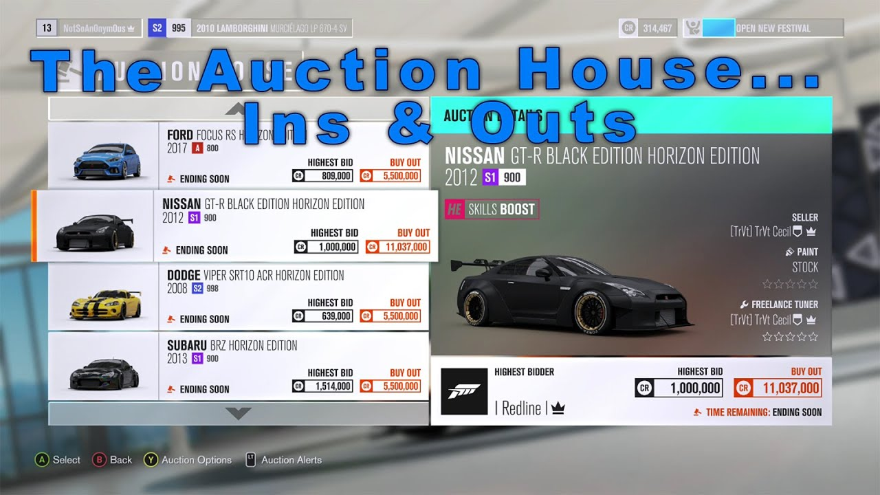 Forza Horizon 3 The Ins And Outs Of The Auction House