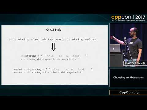 "CppCon 2017: David Sankel ""Choosing an Abstraction"""